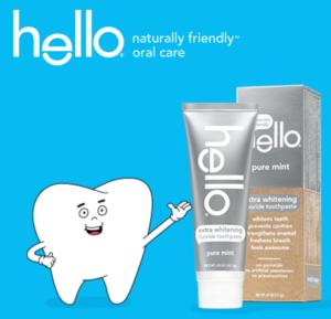 FREE Sample of Hello Extra Whitening Toothpaste — FreebieShark.com