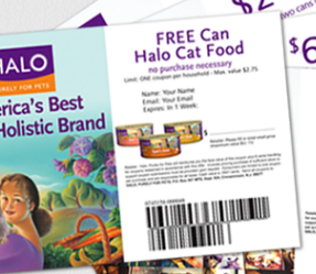 Halo dog food coupons