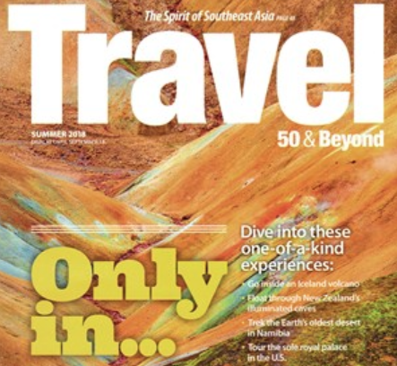 Travel over 50 magazine